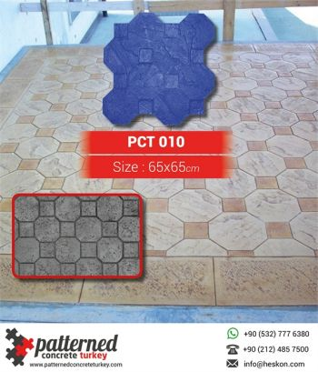 010 Octagon Patterned Printed Concrete