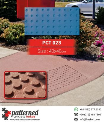 023 ADA Truncated Dome Mat Patterned Printed Concrete
