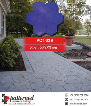 029 Fieldstone Concrete Stamp Pattern Mold Turkey