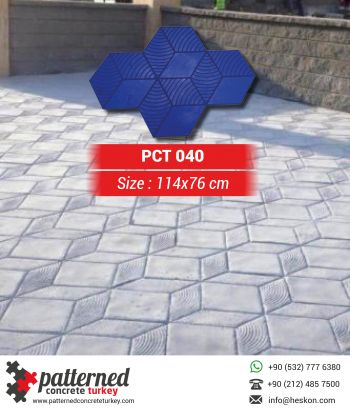 040 3d Stamped Concrete Pattern Stone Mold Turkey
