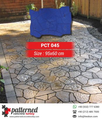 045 Stamped Concrete Pattern Stone Mold Turkey