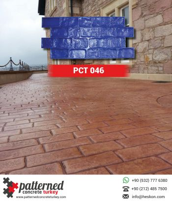 046 Brick Stamped Concrete Pattern Stone Mold Turkey