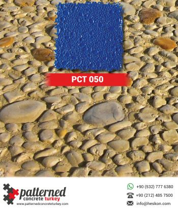 050 Pebblestone Stamped Concrete Pattern Stone Mold Turkey
