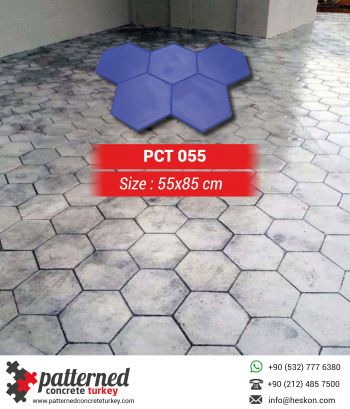 055 Hexagon Stamped Concrete Pattern Stone Mold Turkey